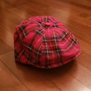 Toddler newsboy cap size S/M Red